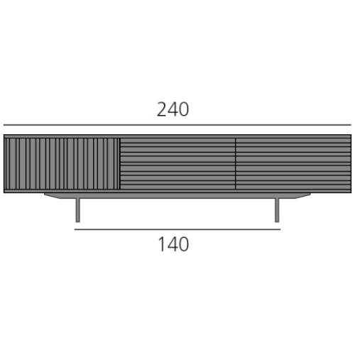 HARRI Sideboard 240 cm mit 2 Türen links und 2 Schubladen je 80 cm