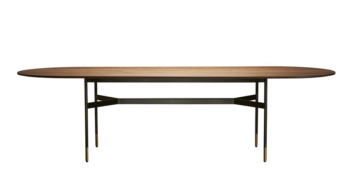 HARRI Tisch / Esstisch mit Messing-Applikation in den Beinen