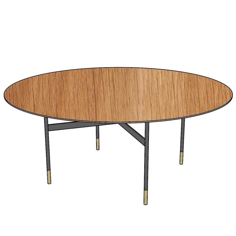 HARRI Tisch Platte rund, Größe nach Wunsch