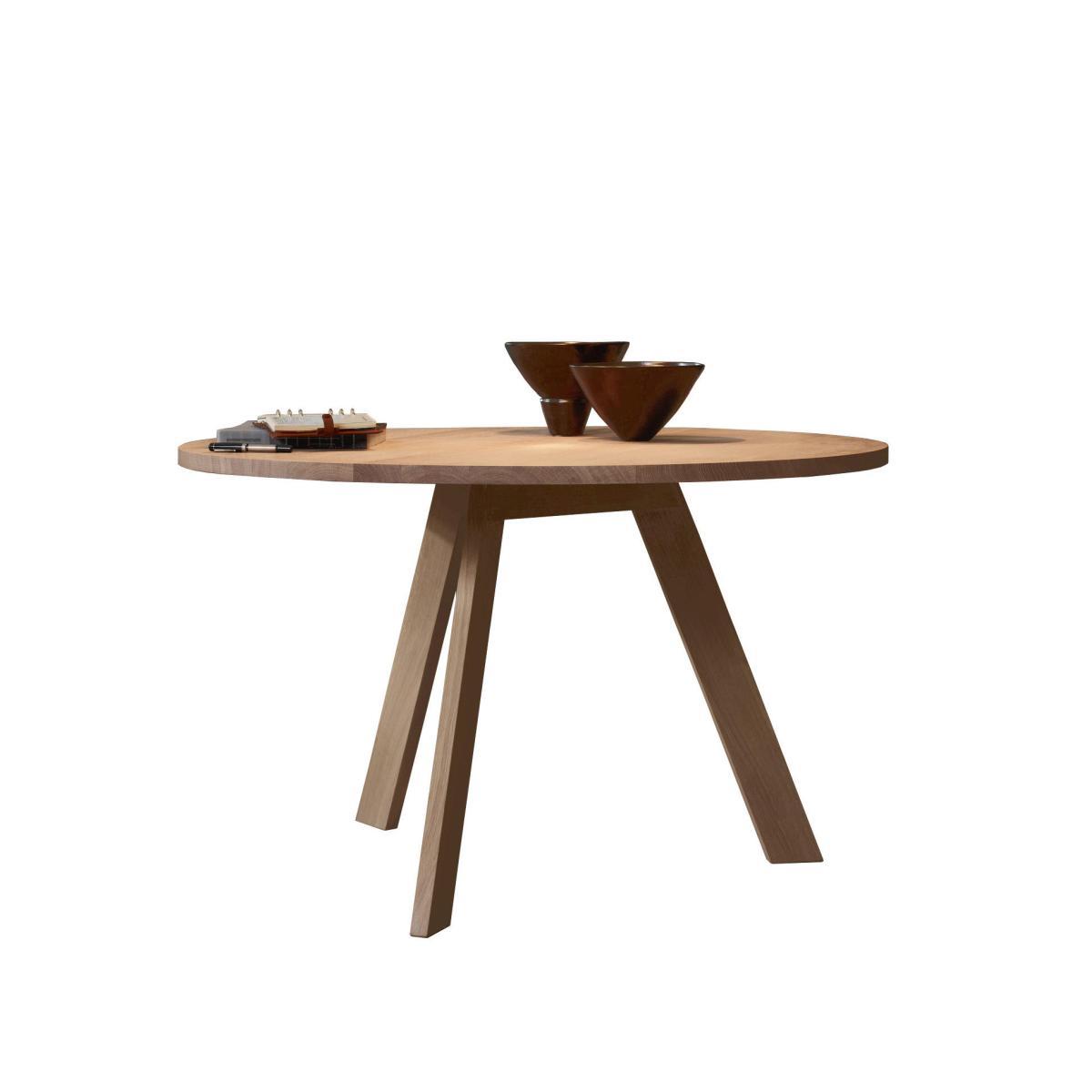TOSH Tisch rund, Nussbaum