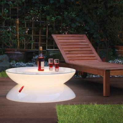 LOUNGE Leuchttisch LED-Beleuchtung, als Gartentisch