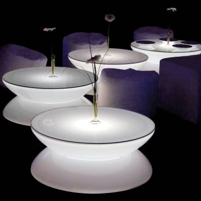 LOUNGE Leuchttisch LED, als Bartisch