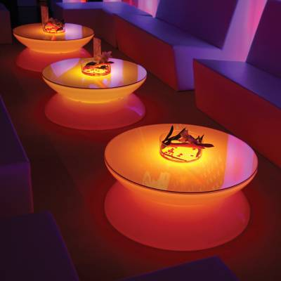 LOUNGE Leuchttisch LED PRO Accu Multicolor