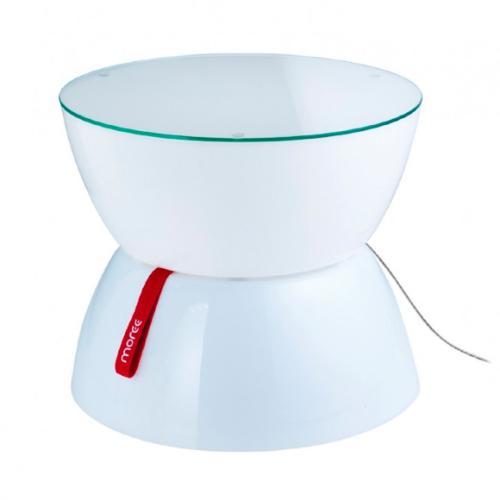 LOUNGE Mini Leuchttisch inkl. Glasplatte mit LED-Beleuchtung und Funk-Fernbedienung