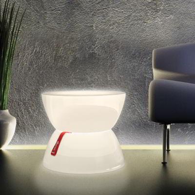 Lounge Mini Leuchttisch transluzent weiß