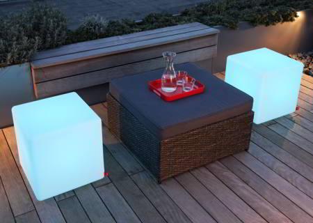 moree Leuchtwürfel Cube LED mit Akku und Fernbedienung