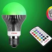 LED Leuchtmittel RGB mit IR-Fernbedienung, Marke moree