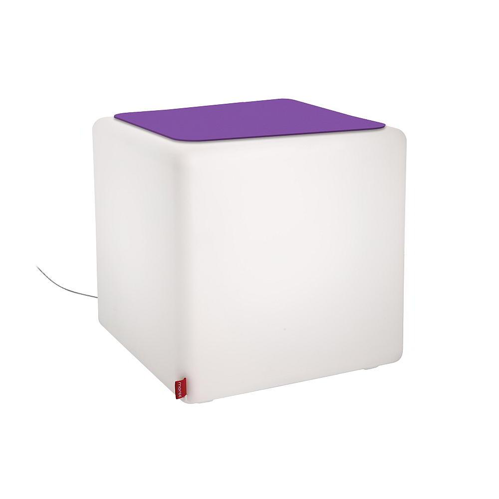 CUBE Leuchtwürfel Indoor, Filz violett