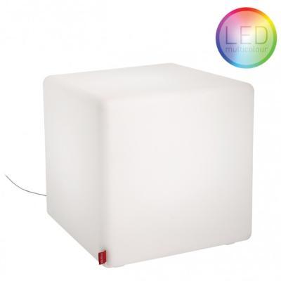 CUBE Leuchtwürfel LED Indoor 43x43 cm, weiß, mit Funk-LED-Glühbirne