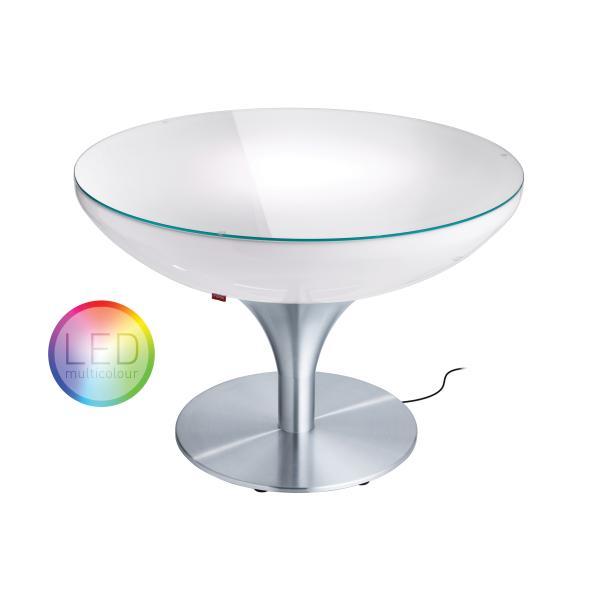 LOUNGE Leuchtisch 55 cm, inkl. Glasplatte LED Pro