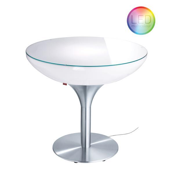 LOUNGE Leuchtisch 75 cm, inkl. Glasplatte LED Pro