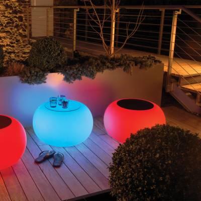 BUBBLE Leuchttisch LED PRO ACCU Multicolor mit LED-Beleuchtung