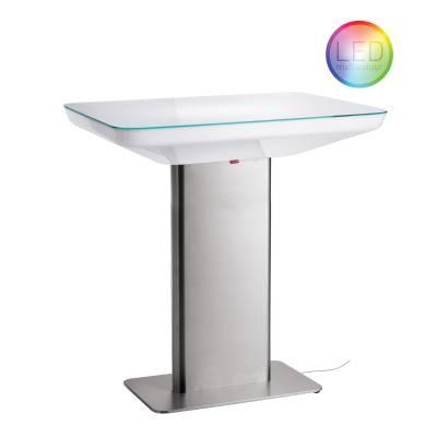 STUDIO 105 beleuchteter Stehtisch LED-PRO Multicolor, incl. Glasplatte