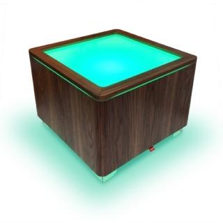 ORA LED und LED PRO beleuchteter Tisch Walnuss funiert