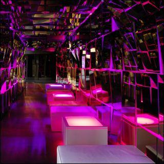 ORA LED und LED PRO beleuchteter Tisch MDF Weiß