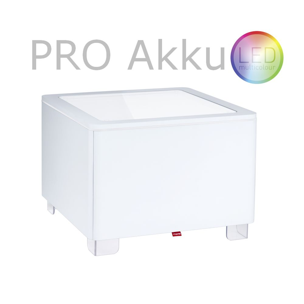 ORA Tisch mit Akku LED PRO Beleuchtung MDF weiß