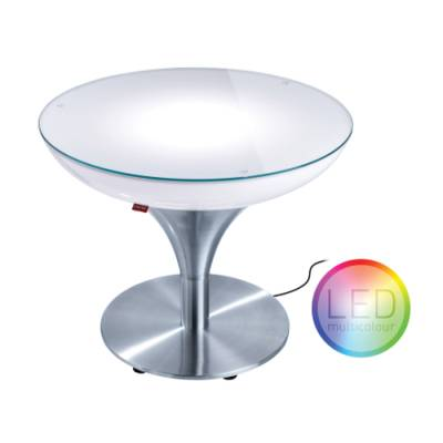 LOUNGE M 45 beleuchteter Couchtisch Funk-LED