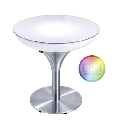 LOUNGE M 55 beleuchteter Tisch LED mit Akku