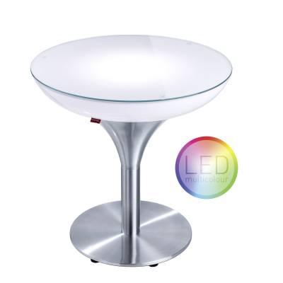 LOUNGE M 55 beleuchteter Tisch LED PRO Akku