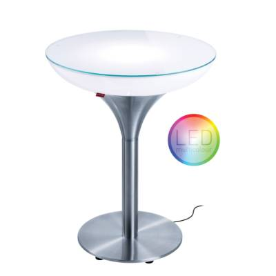 Lounge M 75 beleuchteter Bistrotisch Outdoor Funk LED