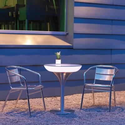 Lounge M 75 beleuchteter Bistrotisch