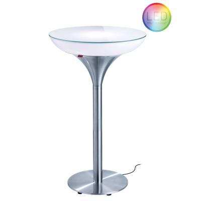 Lounge M 105 beleuchteter Stehtisch Outdoor mit Funk-LED