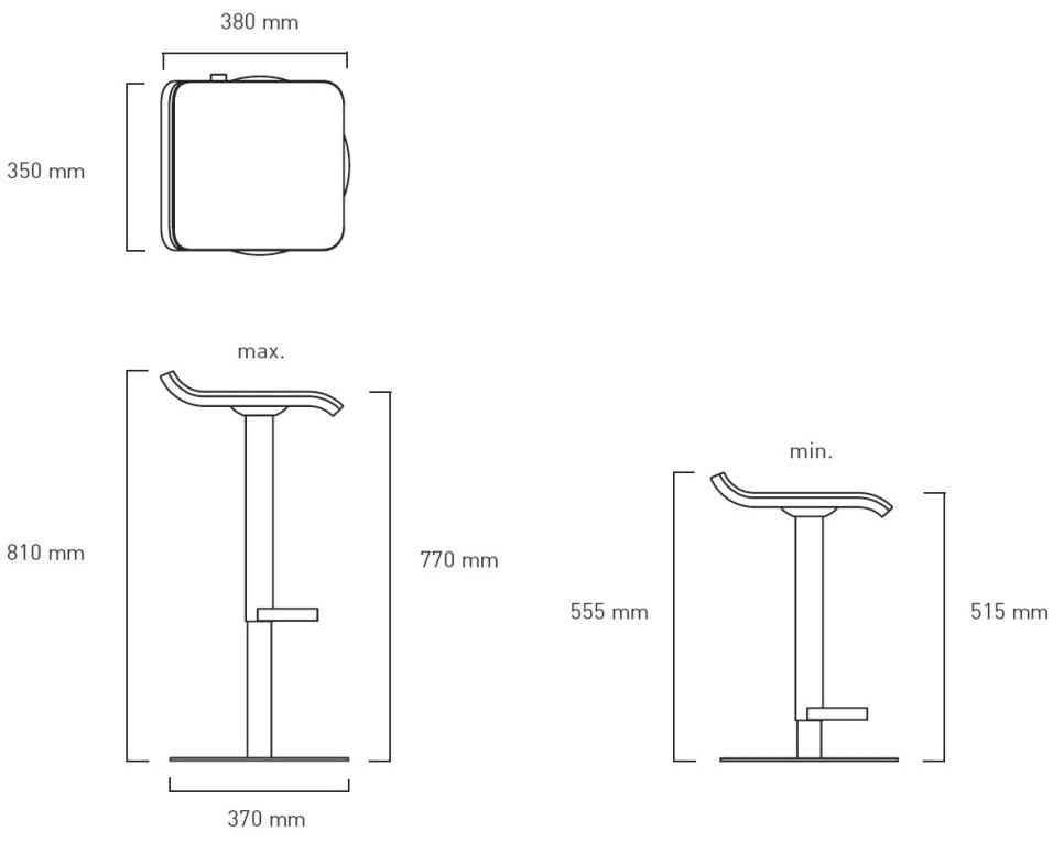 ed barhocker h henverstellbar von moree bei. Black Bedroom Furniture Sets. Home Design Ideas