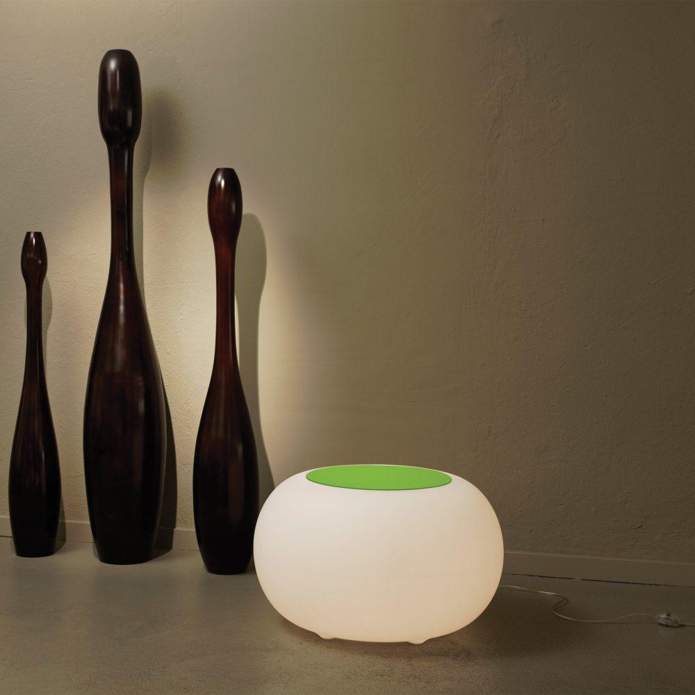 BUBBLE Leuchthocker Indoor mit ESL-Beleuchtung