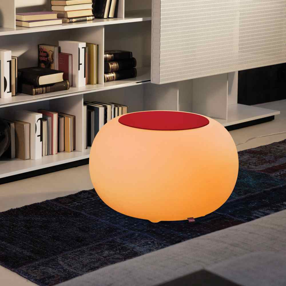 BUBBLE Leuchthocker Indoor mit LED-Beleuchtung