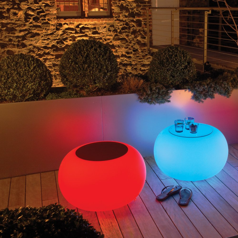 BUBBLE Leuchthocker Outdoor mit LED-Beleuchtung
