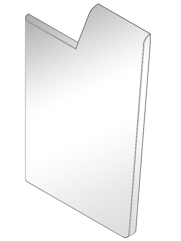Seitenabschluß MDF weiß für moree LED Bar, links
