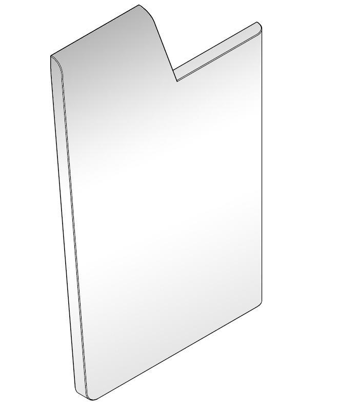 Seitenabschluß MDF weiß für moree LED Bar, rechts