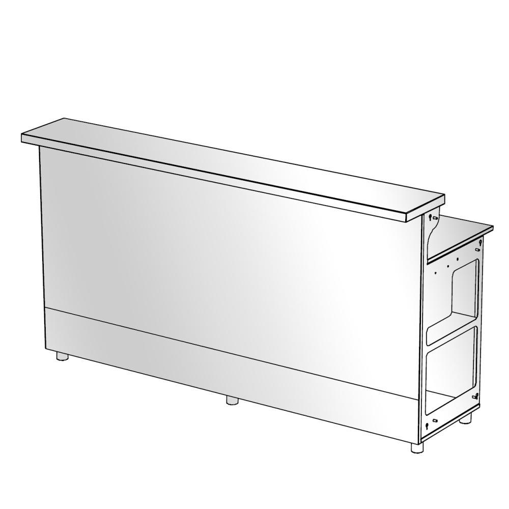 moree LED Bar, gerades Element 200 cm, Anbau-Element ohne Seitenteile