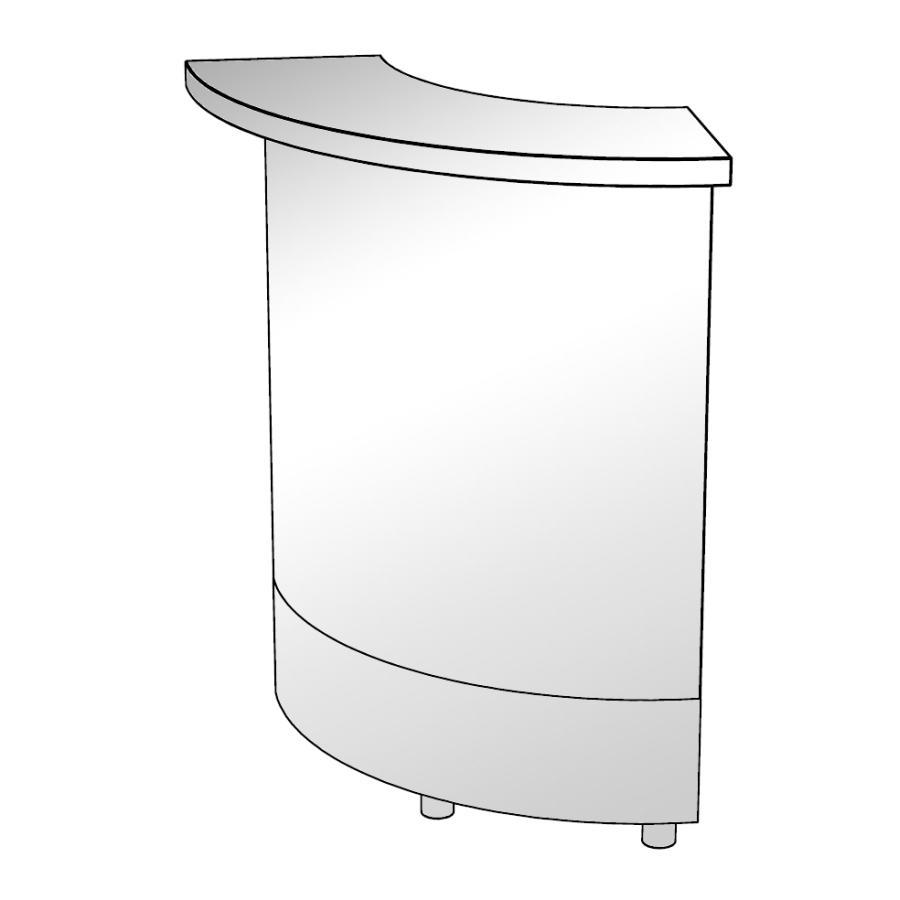 moree LED Bar, rundes Element 90 Grad