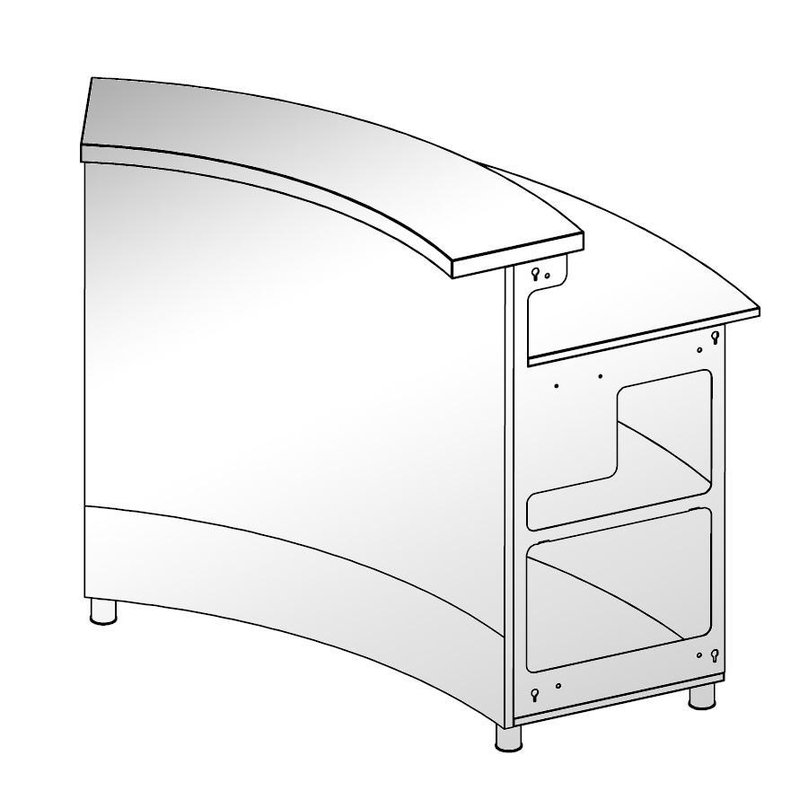 moree LED Bar, rundes Element Concav 60 Grad
