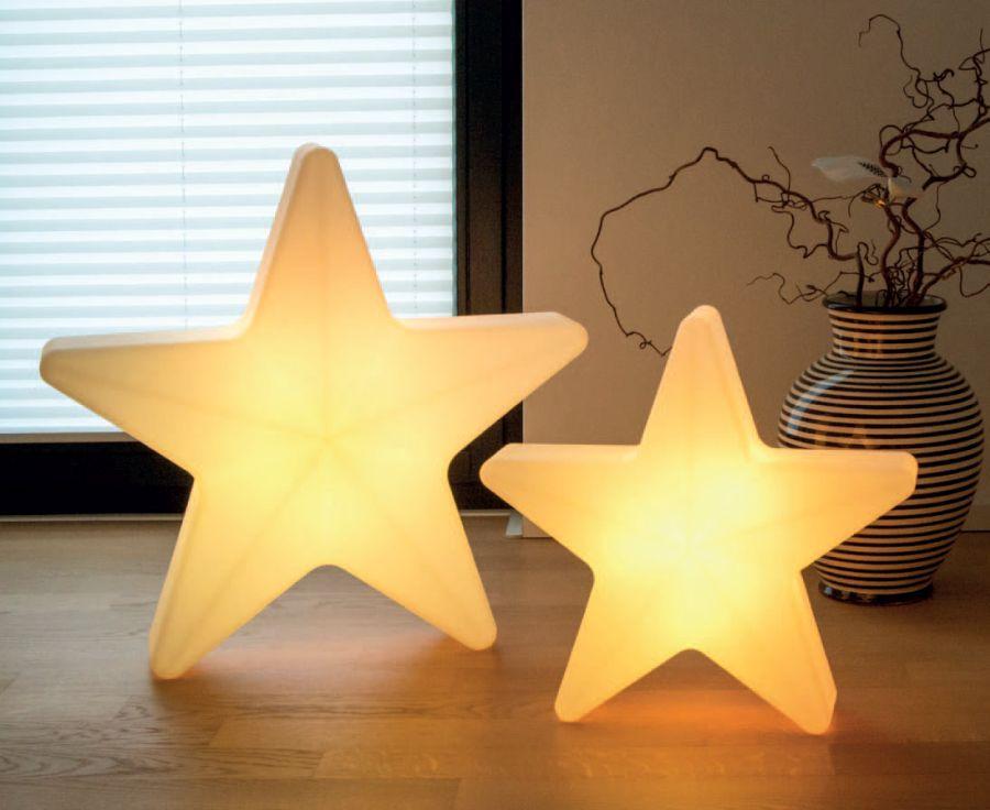 STARS Weihnachtsstern beleuchtet, 40 cm und 60 cm groß, mit Akku