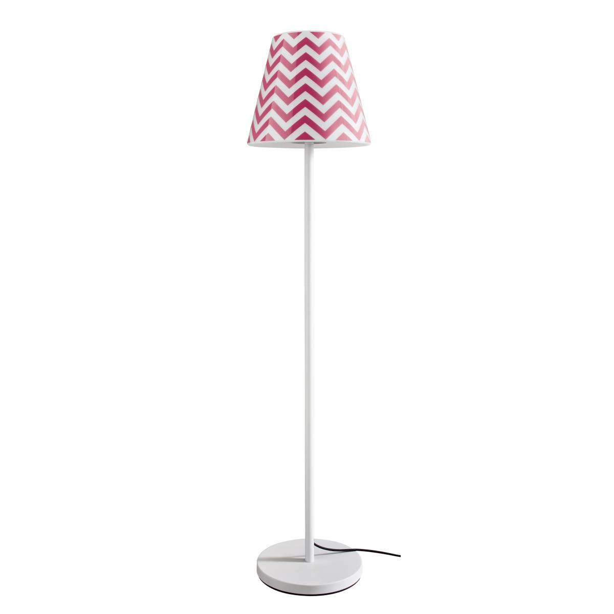 SWAP Stehleuchte mit Rose-Pink Chevron Schirm
