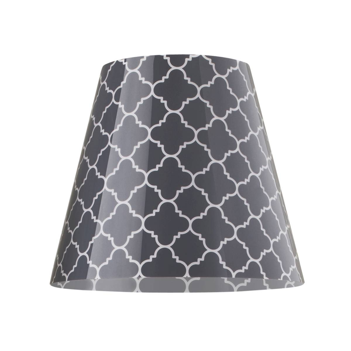 SWAP Cover, Lampenschirm Grey Quatrefoil, grau