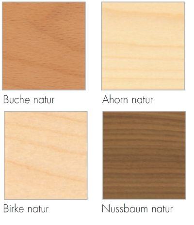 Holzarten für Stapelliege Rolf Heide