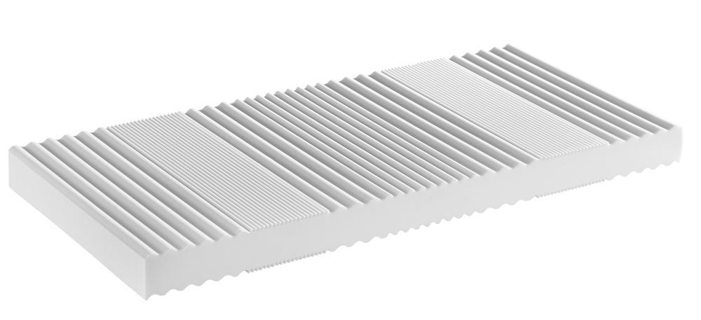 7-Zonen-Kaltschaum Matratze RG 40 für Stapelliege 90 x 200 cm