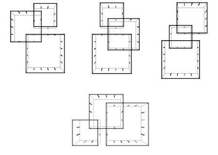KONNEX Regal Aufbaubeispiele mit 1x 3er-Set