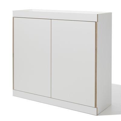 FLAI Kommode Mit Türen, Weiß, Seitenansicht