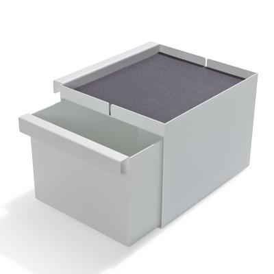 FLAI Bett Zubehör Kasten mit Schublade geöffnet