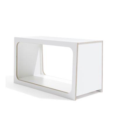 BOXIT Regal modular weiß, Seitenansicht