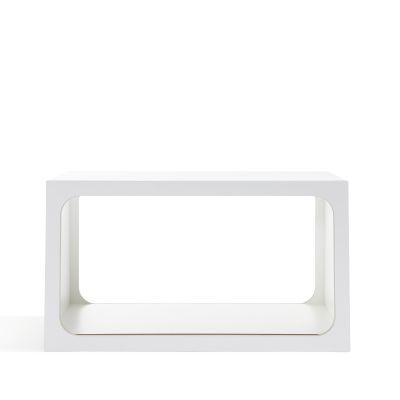 BOXIT Regal modular weiß, Frontalansicht