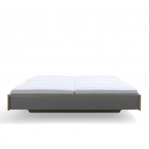 FLAI Doppelbett anthrazit ohne Kopfteil