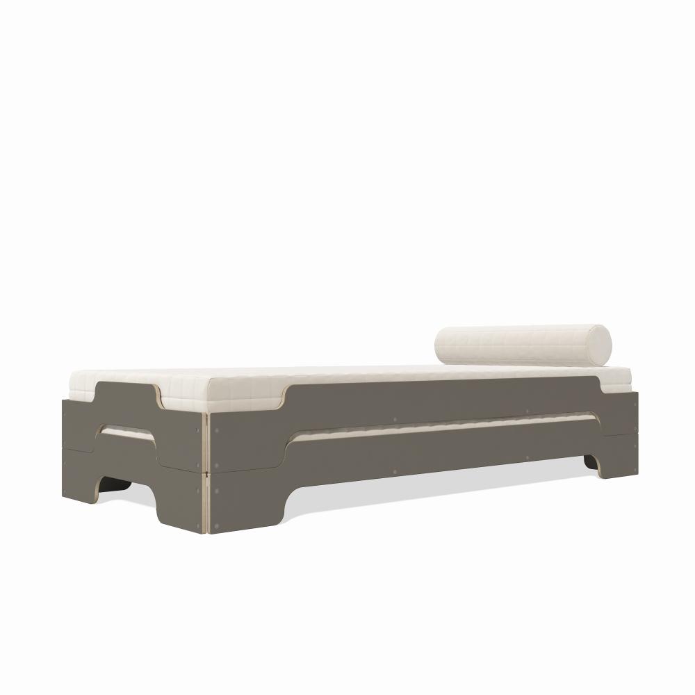 rolf heide stapelliege anthrazit holzkante von homeform. Black Bedroom Furniture Sets. Home Design Ideas