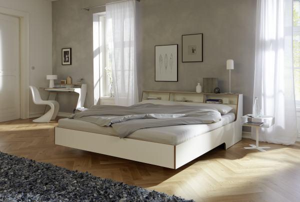 SLOPE Bett im Schlafzimmer, mit Sekretär
