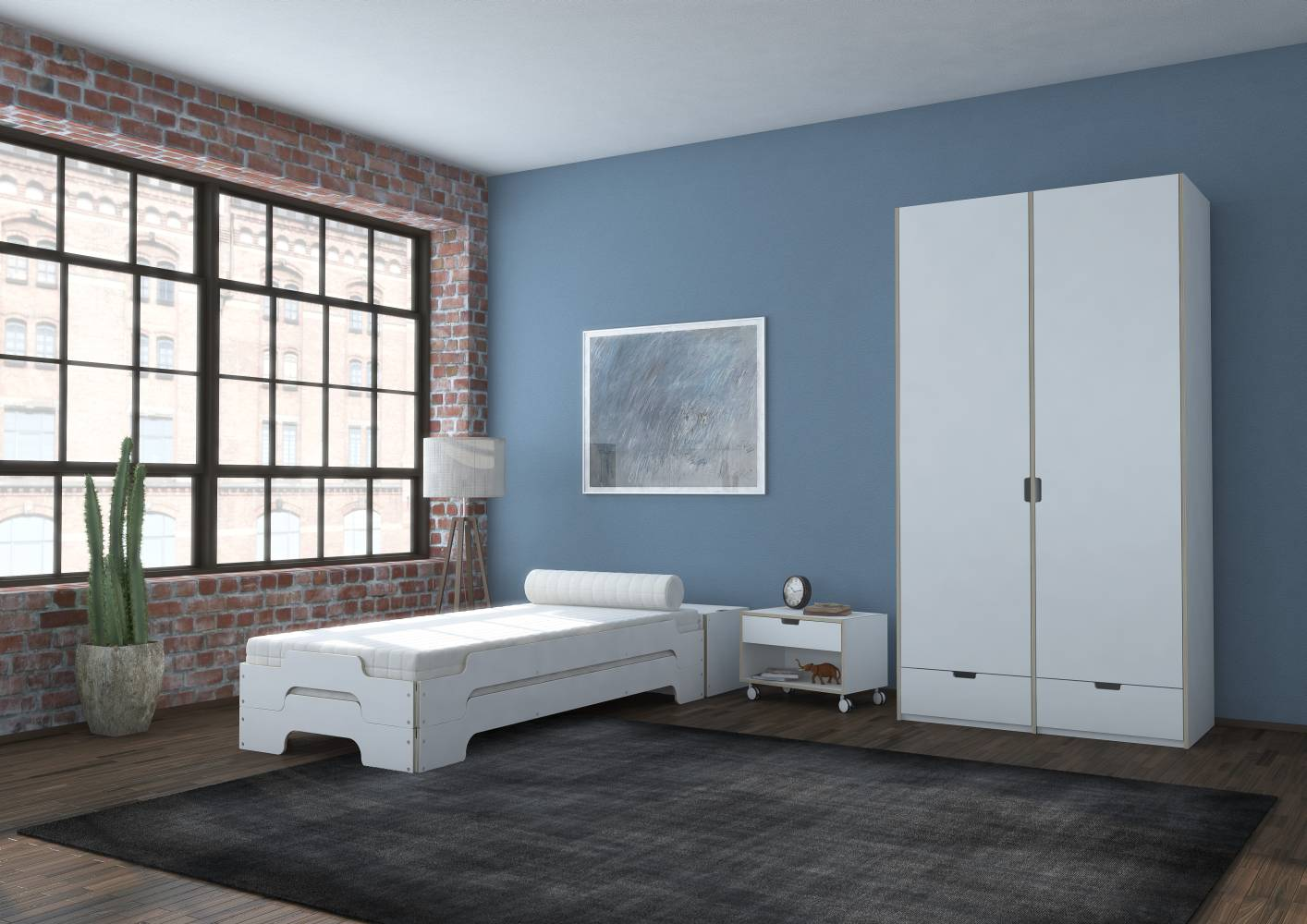 modular kleiderschrank von rolf heide bei. Black Bedroom Furniture Sets. Home Design Ideas