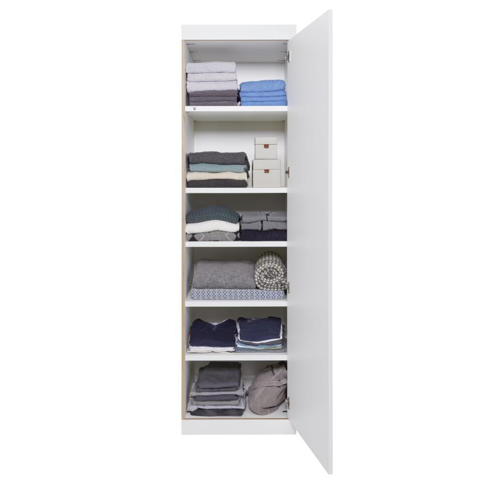 Der FLAI Schrank als Wäscheschrank, nur mit Einlegeböden ausgestattet.